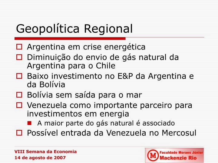 Geopolítica Regional