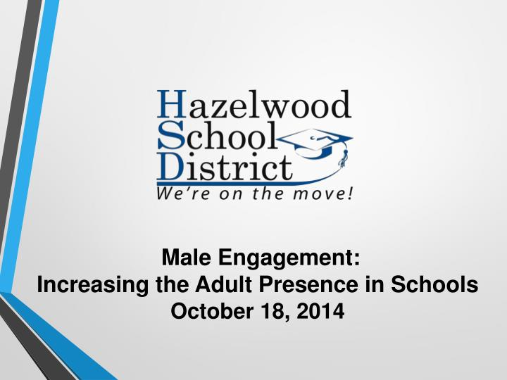 Increasing the adult presence in our schools1