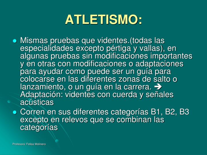ATLETISMO: