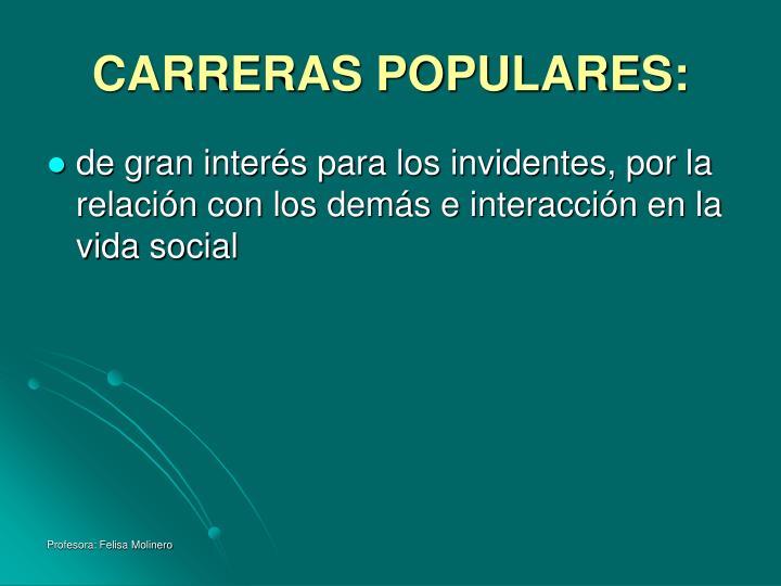 CARRERAS POPULARES: