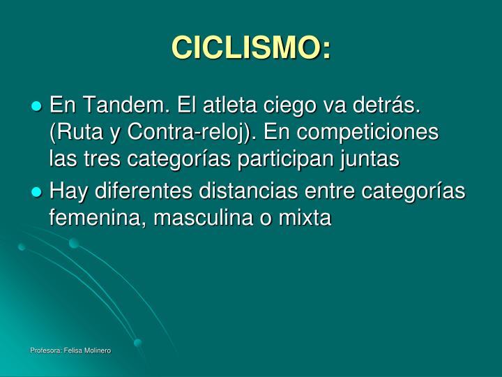 CICLISMO: