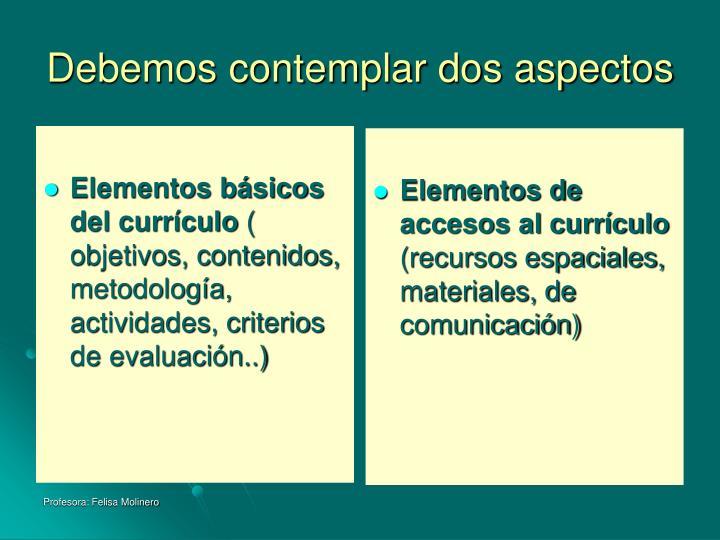 Elementos básicos del currículo