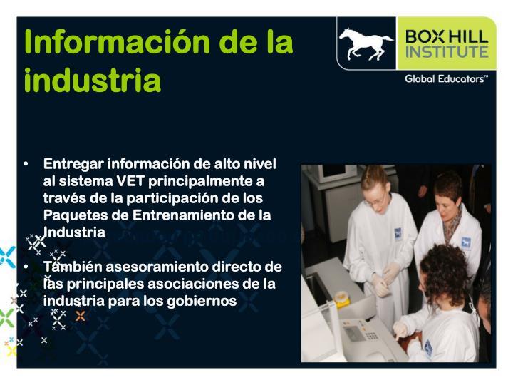 Información de la industria