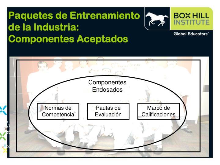 Paquetes de Entrenamiento de la Industria: Componentes Aceptados