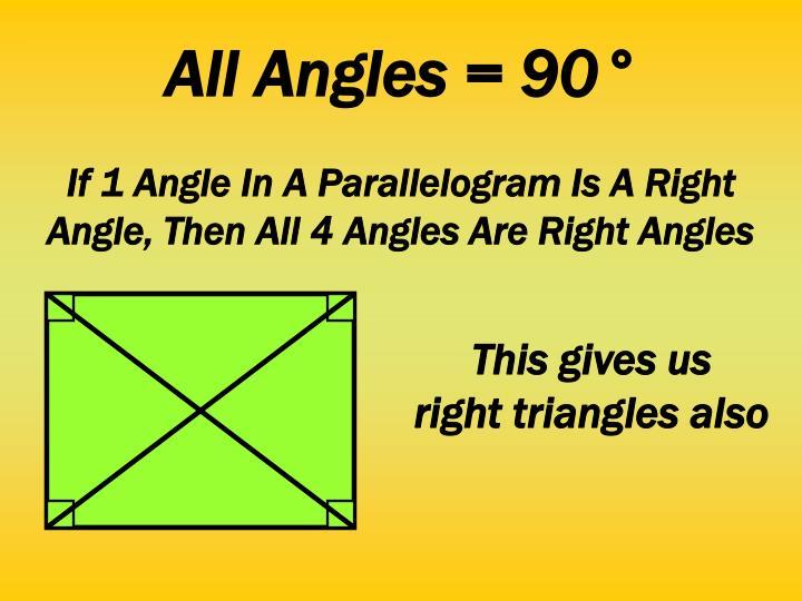 All Angles = 90°