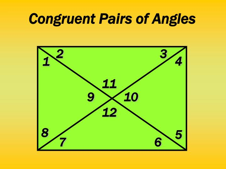 Congruent Pairs of Angles