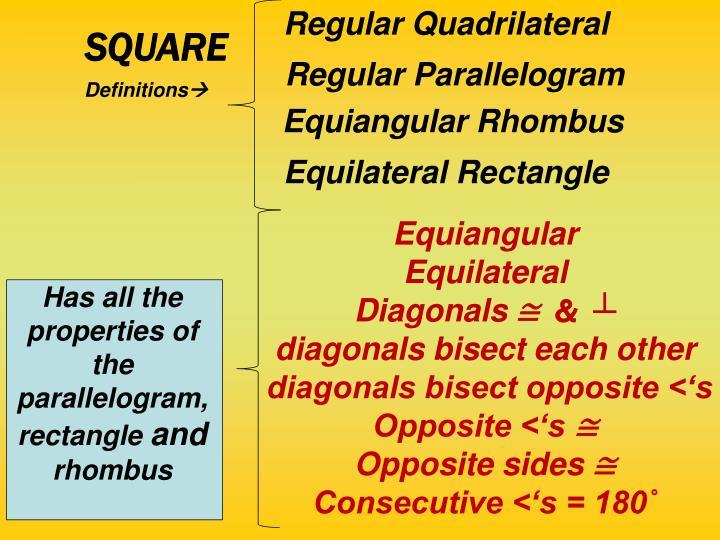 Regular Quadrilateral