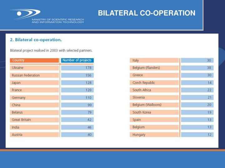 BILATERAL CO-OPERATION