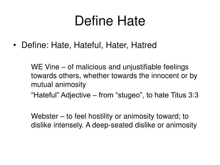 Define hate