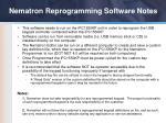 nematron reprogramming software notes