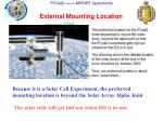 external mounting location
