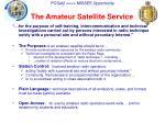 the amateur satellite service