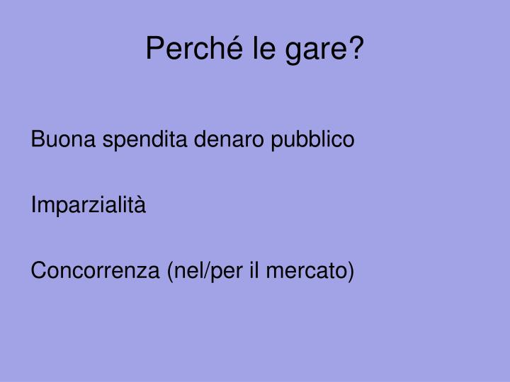 Perch le gare
