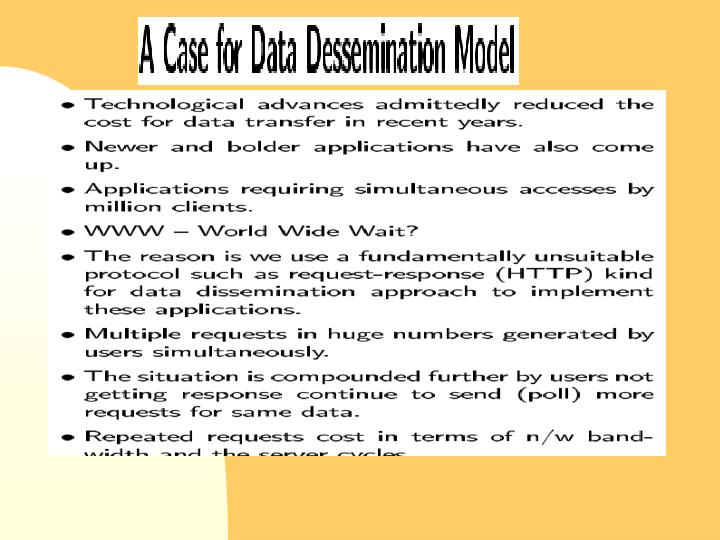 Dissemination based data delivery using broadcast disks