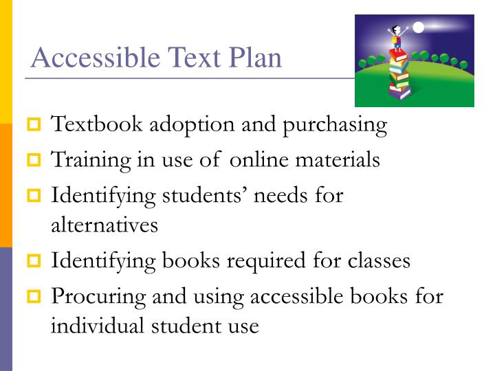 Accessible Text Plan