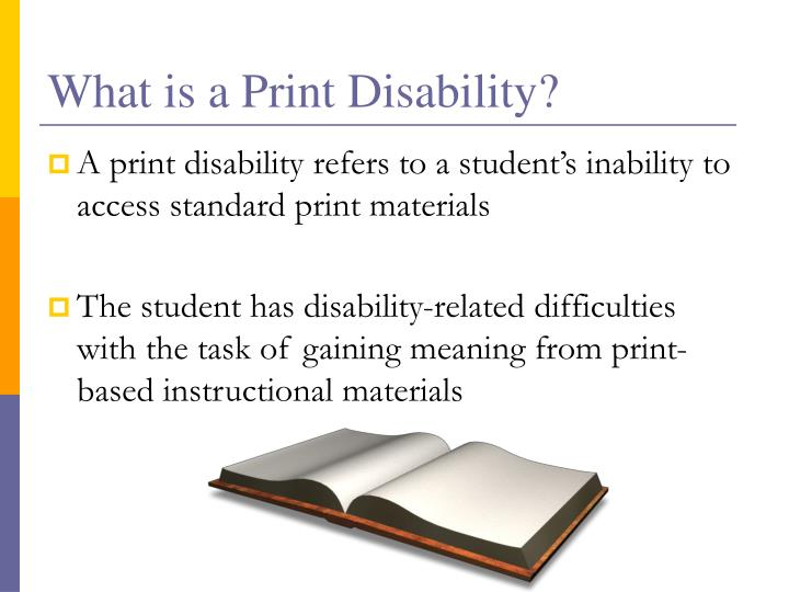 What is a Print Disability?