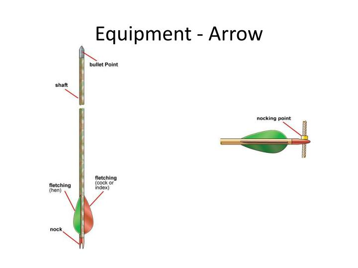 Equipment arrow