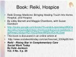 book reiki hospice