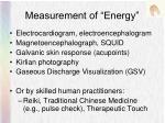 measurement of energy