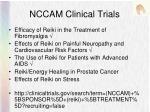 nccam clinical trials