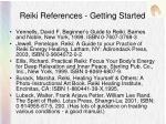 reiki references getting started