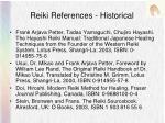 reiki references historical