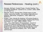 related references healing cont