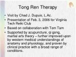 tong ren therapy