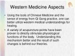 western medicine aspects