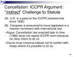 cancellation iccpr argument indirect challenge to statute