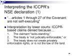 interpreting the iccpr s nse declaration 1