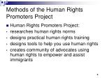 methods of the human rights promoters project
