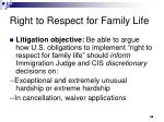 right to respect for family life1