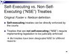 self executing vs non self executing nse treaties