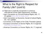 what is the right to respect for family life cont d