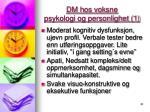 dm hos voksne psykologi og personlighet 1