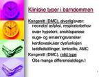 kliniske typer i barndommen