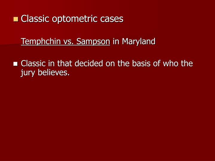 Classic optometric cases