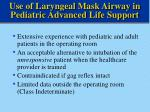 use of laryngeal mask airway in pediatric advanced life support