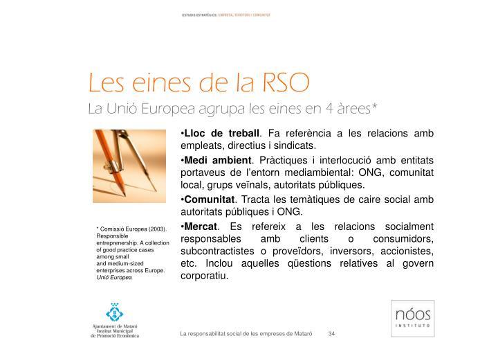 Les eines de la RSO