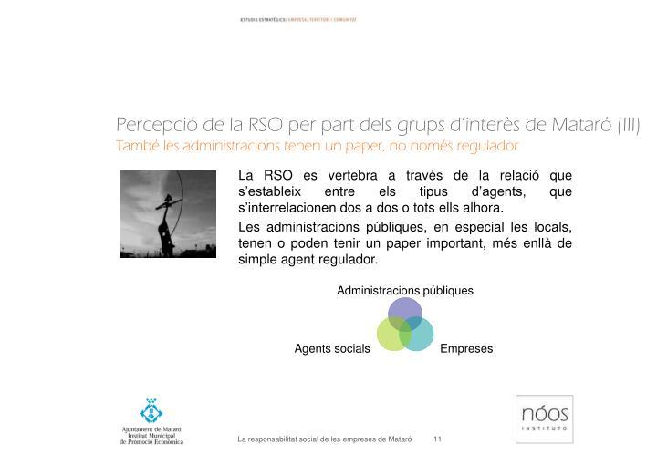 Percepció de la RSO per part dels grups d'interès de Mataró (III)