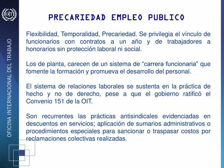 PRECARIEDAD EMPLEO PUBLICO