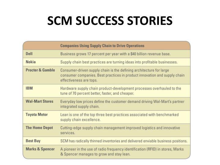 SCM SUCCESS STORIES