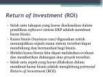 return of investment roi1