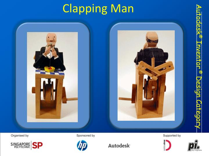 Clapping man