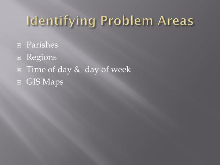 Identifying Problem Areas