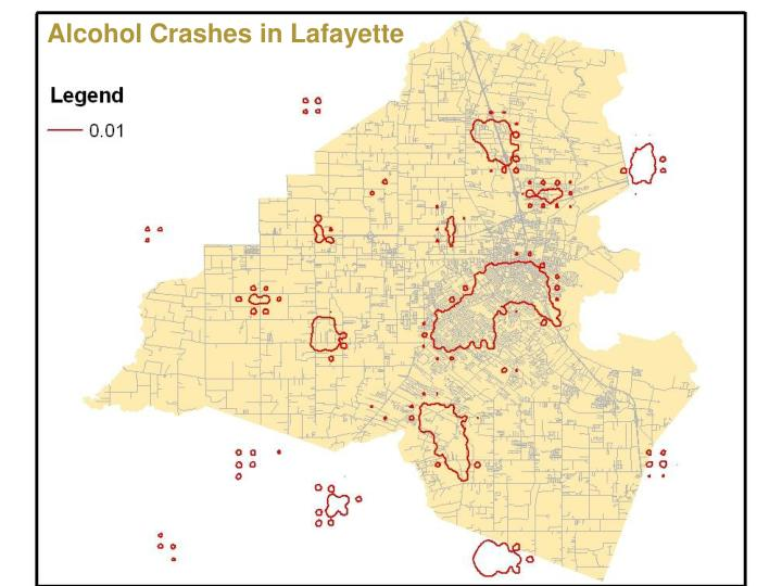 Alcohol Crashes in Lafayette