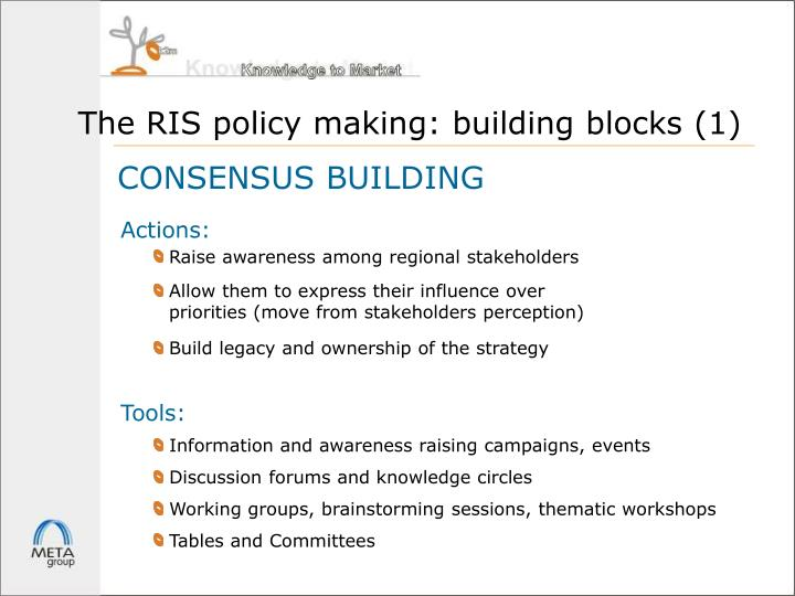 The RIS policy making: building blocks (1)