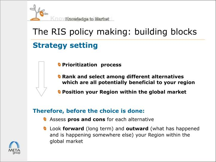 The RIS policy making: building blocks