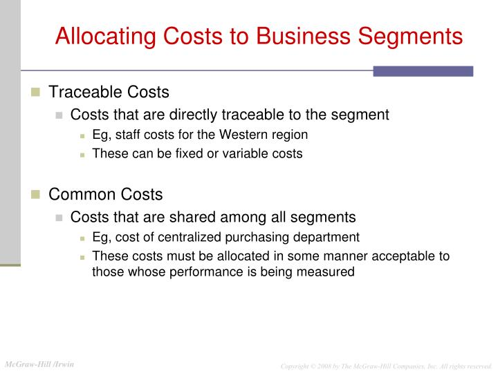 Traceable Costs